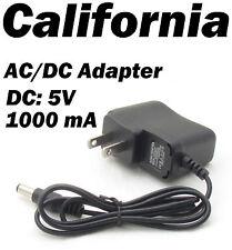 US Plug DC 5V 1000mA Switching Power Supply adapter 100-240 AC 50-60 Hz 5 V
