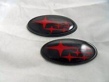 NEW Red / Gloss Black Front & Rear Subaru™ WRX /Sti Emblems / Badges Free Ship
