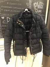 Ladies Size 8 PETITE Topshop Navy Quilted Jacket Coat Parka Puffa Puffer