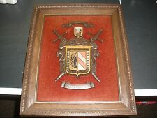 """Vintage Halberts Coat of Arms wall hanging picture HOSTELLER 14"""" X 17.5"""