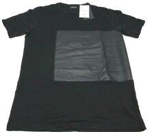 Zara Man 0977 camiseta de vestir para hombre manga corta M Negra estampado piel
