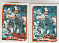 1989 Topps Cal Ripken #250 Error/Variation Light/Dark offset image Orioles HOF