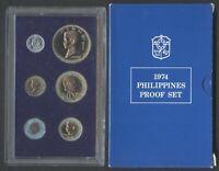 1974 Philippine PROOF Set Banko Sental / Pilipino Ser / Filipino Heroes Coin #B5