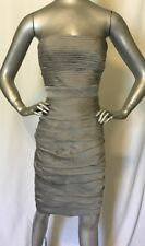 ML Monique Lhuiller Bridesmaids Ruched Strapless Cationic Chiffon Dress Size 4