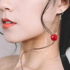 Fashion 925 Sliver Earring White Red Opal Earrings Girls Jewelry Women Gifts