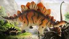GIGANTE 36cm MORBIDO GOMMA Stegosaurus dinosauro ACTION FIGURE GIOCATTOLO