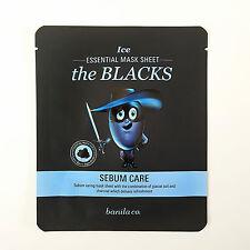 Banila co - Ice Essential Mask Sheet The Blacks Sebum Care Korean Face Mask Pack