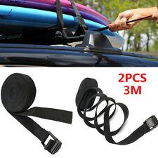 2x Multi-functional Car Roof Luggage Rack Surfboard Kayak Surf Tie Down Strap 3M