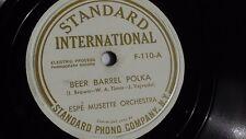 Espe Musette Orchestra - 78rpm single 10-inch –Standard International #F-110