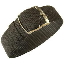 18mm EULIT Panama Brown Tropic Woven Nylon Perlon German Made Watch Band Strap