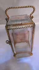 coffret porte montre ou bijoux en bronze et verres biseautes