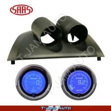Ford Falcon FG XR6 XR8 Black Gauge Pod Oil Pres + Volt LCD Gauges