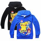 Pokemon Go Kids Girl Boy Pikachu Sweatshirt Long Sleeve Hoodie T-Shirt Coat Tops