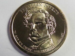 2010 P&D - Franklin Pierce - $1 Presidential Golden Dollar Coin Set