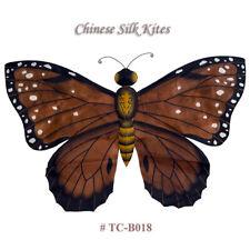 """TC-B018 Dark Brown Chinese Silk Butterfly Kite - Hand-Crated Kite 28"""" W"""