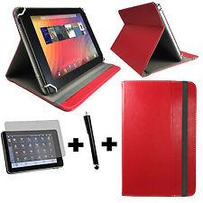 3in1 Set 8 Zoll 20,32 cm Medion Lifetab P8314 Tasche + Touch Pen + folie -  Rot