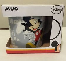 Disney Mickey Mouse and Friends Mug Laughter Grey 16 oz Cup New In Box