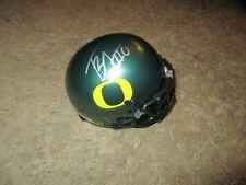 Oregon Ducks TONY BROOKS-JAMES signed Mini Helmet
