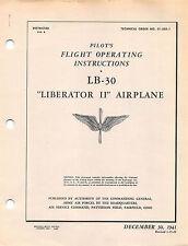 LB-30 Pilot's Flight Operating Inst's World War II Book Flight Manual  (CD)