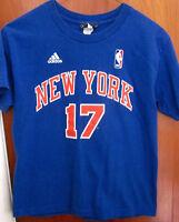 NEW YORK KNICKS youth med Jeremy Lin T shirt #17 Asian tee NBA basketball Adidas