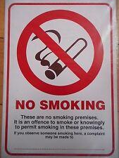 Self-Adhesive A4 No Smoking Compliant PVC Sign 210x297mm