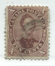 Canada 1859 10 cents red lilac Prince Albert lightly used