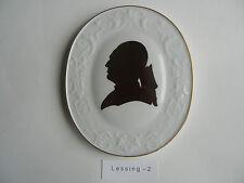 MEISSEN plaque Gotthold Ephraim Lessing (Mon Numéro d'article 2)