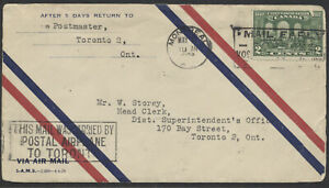 1928 May 6 Montreal to Toronto Flight Cover, AAMC #2823a, CPO Promotional Letter