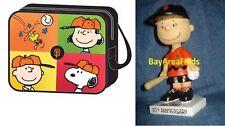 San Francisco Giants Charlie Brown Bobblehead & Peanuts Messenger Bag SF Snoopy