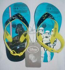 Disney Star Wars Darth Vader Storm troopers back Buckle Flip Flops Size 7/8.