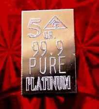 ACB Platinum PT BULLION MINTED PURE 5Grain 9.99 FINE +