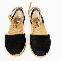 UGG Australia Libbi Black Calf Hair Size 8 1007154 Ankle Wrap Espadrilles