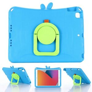 """For Apple iPad 8th/7th Gen 10.2"""" Kids Friendly EVA Foam Handle Stand Case Cover"""