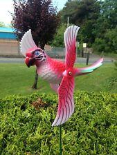 PARROT  whirligig garden wind spinner garden windmill patio ornament