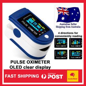 Finger Pulse Oximeter Blood Oxygen SpO2 Heart Rate Saturation Monitor AU