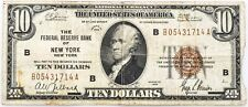 $10 National Currency Federal Reserve Bank of NY Series 1929
