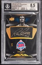 2008-09 UD black ABA NBA 30th anniversary autographs gold Rick Barry bgs 8.5 1/5