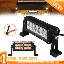8 Pulgada 36w Luz Led Bar Combo Barra Reparación Conducción ATV UTE SUV Offroad