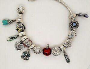 Disney Pandora silver 925 assorted Princess Themes dangle slide charm NEW