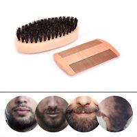 Pettine&barba spazzola impostato cinghiale setole baffi barba pulizia strumentLO