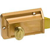Kaba Ilco 220-53-41 Night Latch with Kwikset Keyway in Bronze Lacquer