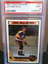 1987 Topps Stickers # 12 Luc Robitaille PSA Mint 9......PSA NEW CASE......H-7047