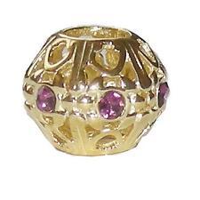 * Nuovo * Rhona Sutton placcato oro filigrana in argento Sterling 925 Perline Distanziatore-Viola