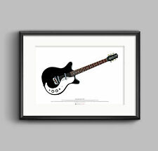 Jimmy Page's Danelectro 3021 guitar ART POSTER A2 size