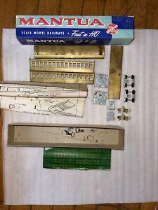 HO SCALE MANTUA OLD TIMEcars Coach Brass Unassembled