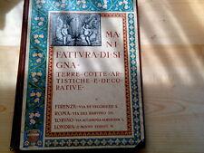 MANIFATTURA DI SIGNA-ARTISTIC/DECORATIVE TERRE COTTE-1890 ANTIQUARIAN CATALOGUE