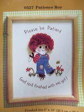 CREATIVE CIRCLE PATIENCE BOY embroidery stitchery kit 1981 vintage