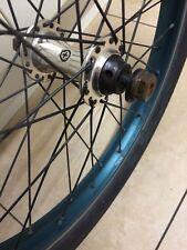 custom Eclat salt front female sealed bmx wheel chrome teal 10mm axle rim