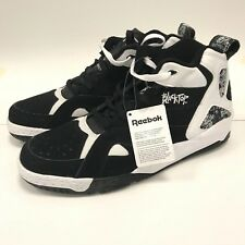 "REEBOK BLACKTOP BOULEVARD SIZE 15 BLACK AND WHITE HI-TOPS ""NW0B"""