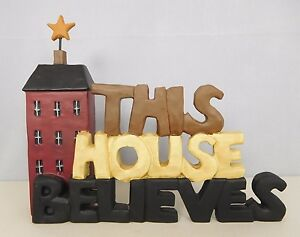 This House Believes - New resin block with a church by Blossom Bucket #2929